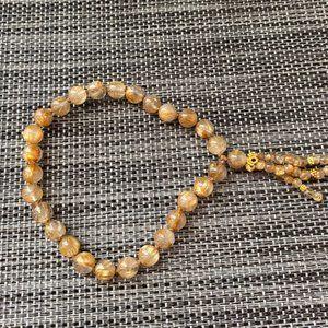 """Jewelry - 🎊3/$10🎊Genu Crystal Smokey Quartz Bracelet 8"""""""